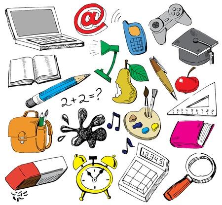 rekenmachine: scholen doodles