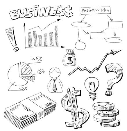 bocetos de personas: Garabatos de negocios Vectores