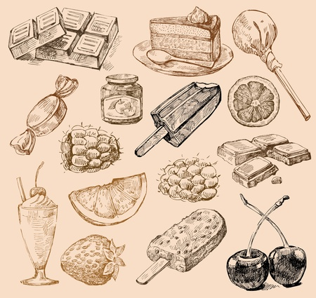 sweetmeat: illustration with hand drawn