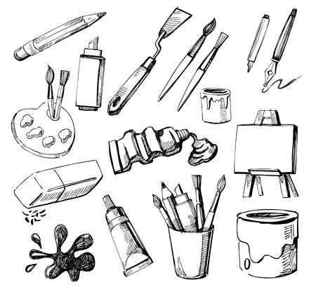 paint brush: Art icons Illustration