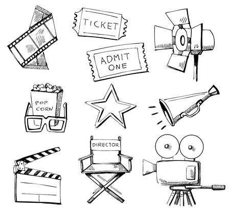 Movie icon set Stock Vector - 13638097