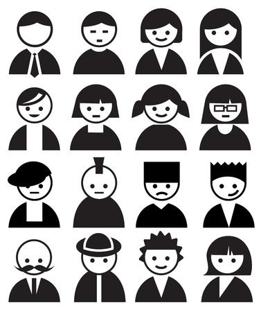 pictogramme: Les gens Faces