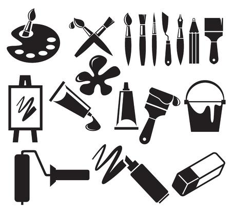 creative tools: Icone d'arte impostato