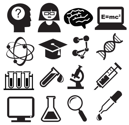 Science icons Stock Vector - 13649797