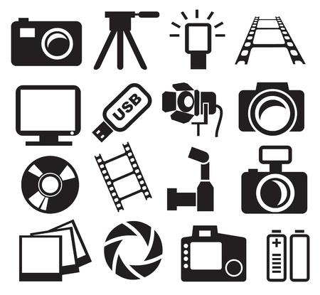 cameras set Vector