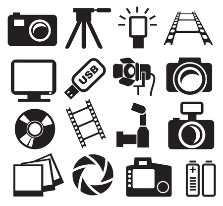 photo of accessories: cameras set Illustration