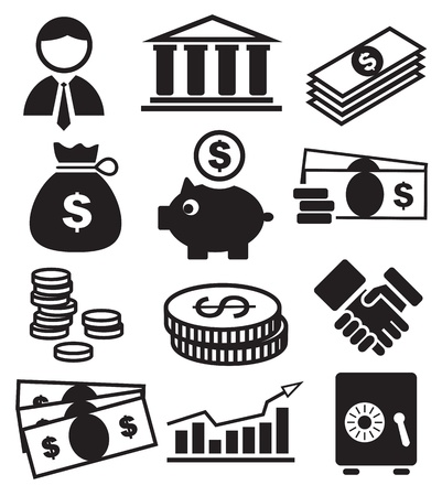 banking icons Stock Vector - 13649789