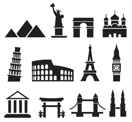 Landmark icons Stock Vector - 13678555