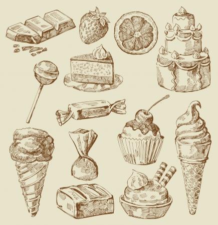 dessert muffin: sweet collection