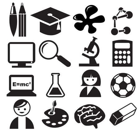 Education icons Stock Vector - 13781278