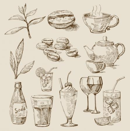 lemons: beverages set
