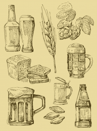 beer drinking: beer set