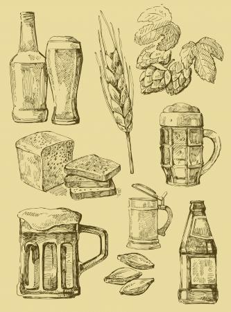 bier set Vector Illustratie