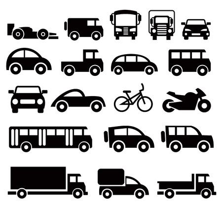 passenger vehicle: iconos de transporte establecido Vectores