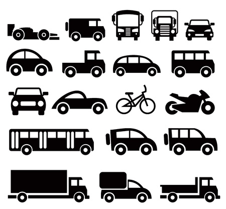off road vehicle: transportation icons set