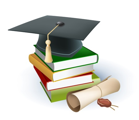 degrees: education background Illustration