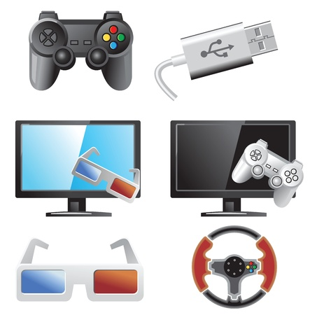 game pad: gaming icons Illustration