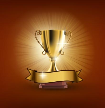 trophy winner: trofej Ilustrace