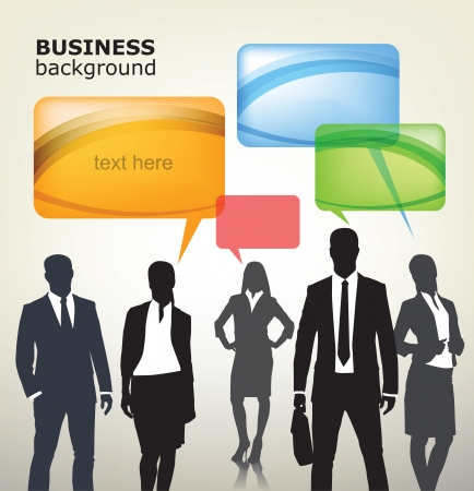casual business team: business people