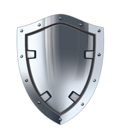 Silver shield  Vector