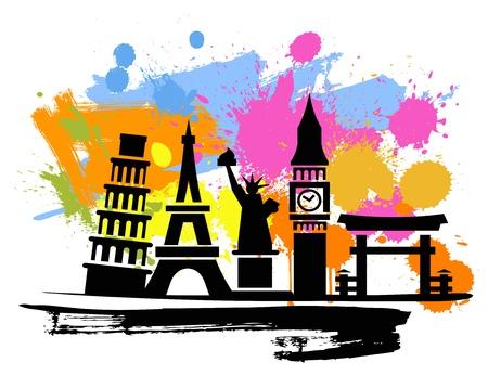 du lịch: nền du lịch Hình minh hoạ