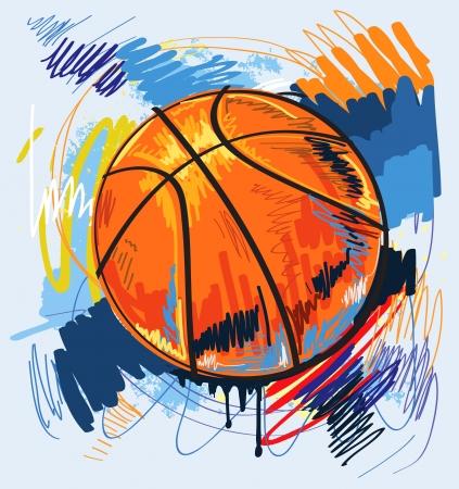 sketch pattern: dise�o del baloncesto color de fondo