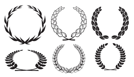 vector laurel wreaths Stock Vector - 13869119