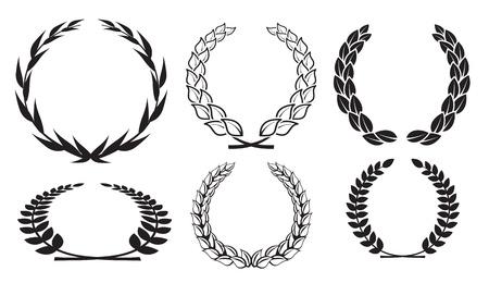 vector laurel wreaths Stock Vector - 13869119