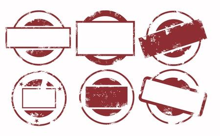 sello de goma: tamp conjunto Vectores