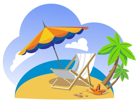 wave tourist: vector rest background