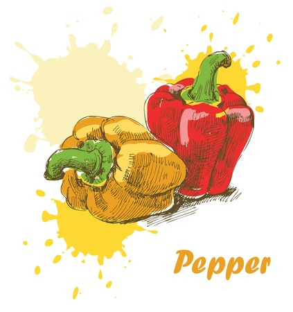 red pepper: Pepper background