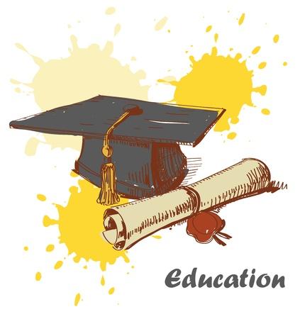 tassel: Graduation cap and diploma