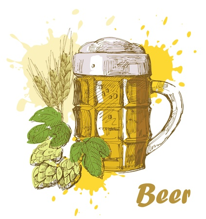 hand draw beer Stock Vector - 13941018