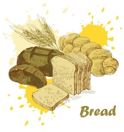 corn poppy: bread background