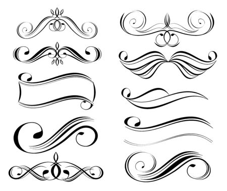 abstract design elements Illustration