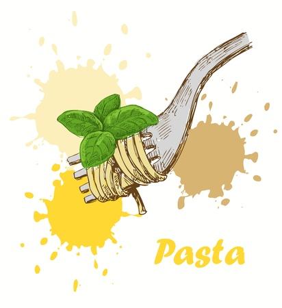 pasta fork: pasta background