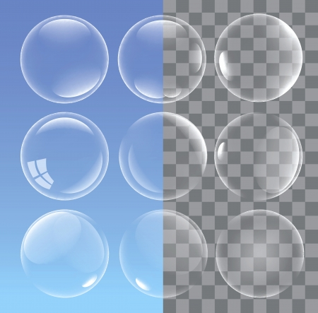 water drops: bubbles Illustration