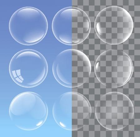 bulles de savon: bulles Illustration
