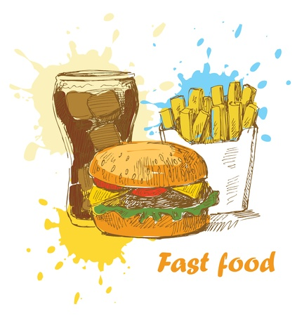 fast food background Vector