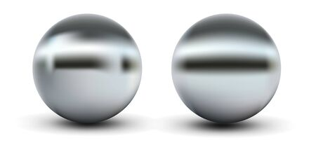 Chrome sphere grey with gradient mesh Vector