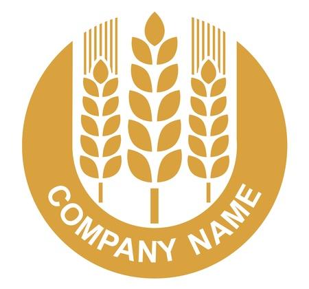 produits céréaliers: signe de blé - badge (conception)