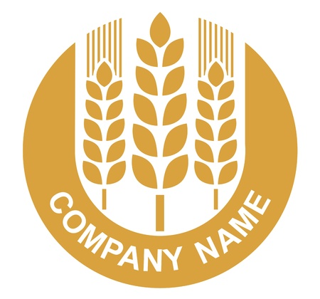 wheat sign - badge (design) Vector