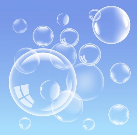 Weiße Blasen Hintergrund, Abbildung Vektorgrafik