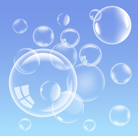 White bubbles background,   illustration Stock Vector - 13986696