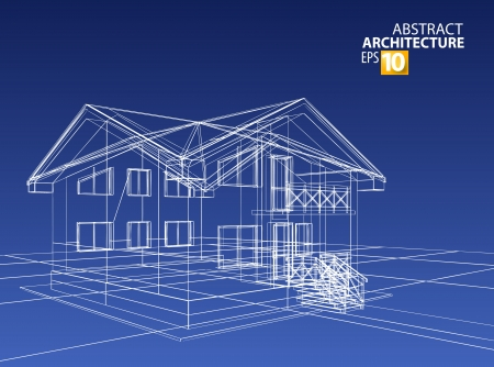 architect drawing: 3d   home