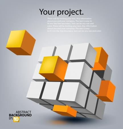 디지털: 3D 추상적 인 배경