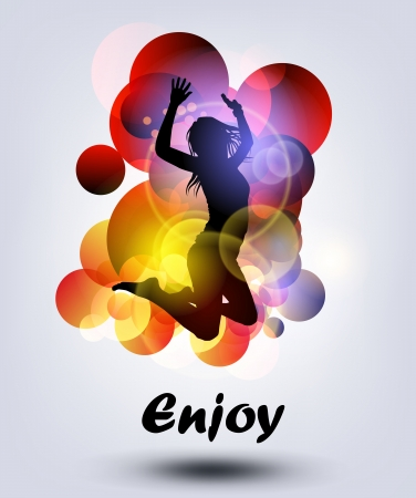 modern dancer: jumping girl