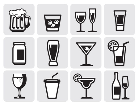 icon beverage Vector