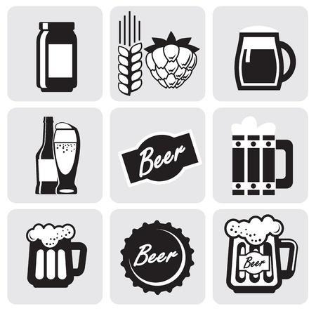 bier glazen: bier iconen