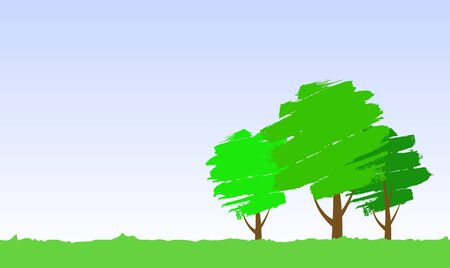 paint tree Vector